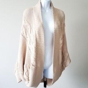 Zara Knit| Tan Knitted Oversized Cardigan Med